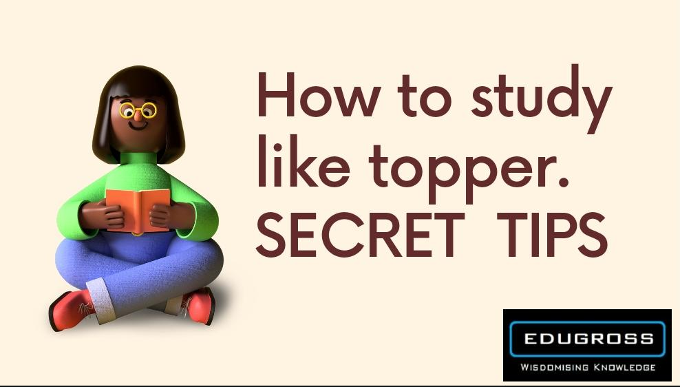 How to become topper in class