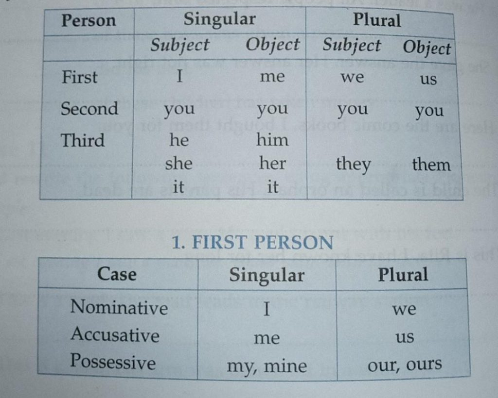 The Personal Pronouns Number, Gender and Case